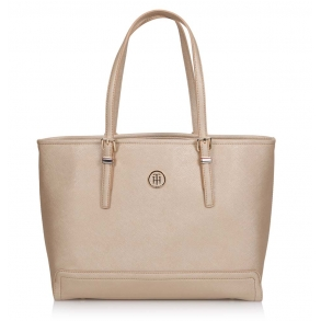 Τσάντα TOMMY HILFIGER Honey Med Tote Χρυσό